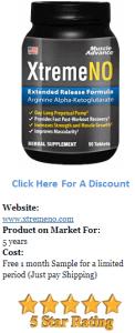 xtremeno supplement bottle